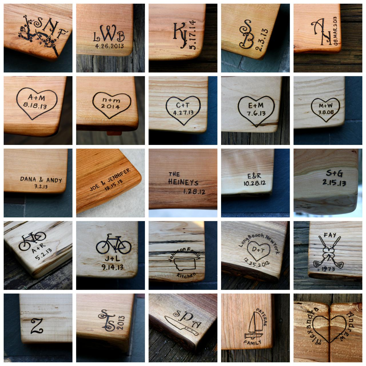 cutting board personalized engravings unique wedding gifts wood anniversary gifts personalize on luulla